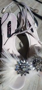 NEW white Nina heels/Bridal